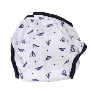 Paper airplane print cloth nappy